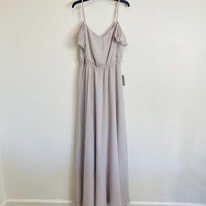 CEREMONY BY JOANNA AUGUST - Gray Maxi Dress